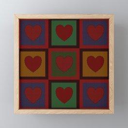 Old Time Hearts Framed Mini Art Print