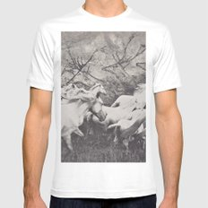 Running With The Ancestors Mens Fitted Tee White MEDIUM