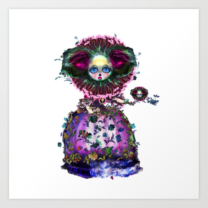 Beasts of Botanica - Black Mourning Bride's Extravagant Wedding Art Print