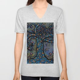 Twisty Tree Unisex V-Neck