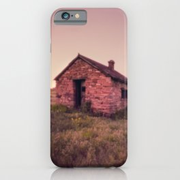 Abandoned Stone House on The Prairie iPhone Case