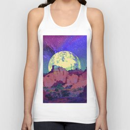night desert landscape Unisex Tank Top