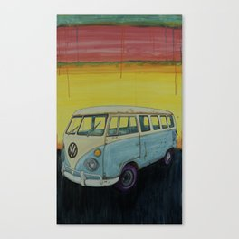 Sunrise Bus Canvas Print