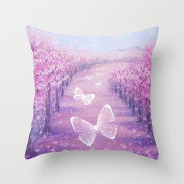 Butterflies' Field Trip Throw Pillow