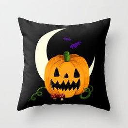 Night of the Jack O'Lantern Throw Pillow