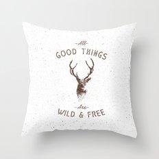 WILD DEER Throw Pillow