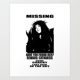 HAVE YOU FOUND CRACKY? Art Print