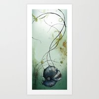 Water Head Art Print