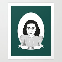 Anne Frank Illustrated Portrait Art Print