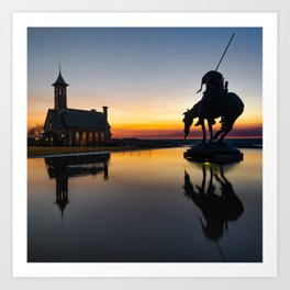 End of the Trail and Chapel Reflections - Square Art Print