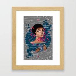 cold as heart Framed Art Print