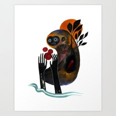 Bigfoot Dreams Art Print