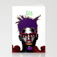 basquiat Stationery Cards featuring Basquiat by Kibwe Maono