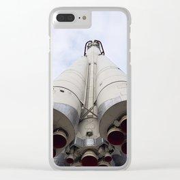"""rocket launcher """"UNIUN"""" Clear iPhone Case"""