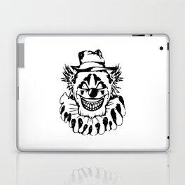 Black and white Evil Clown Laptop & iPad Skin