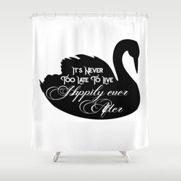 Happily Ever After Black Swan A368 Shower Curtain