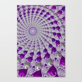 Tunnel Vision Purple Canvas Print