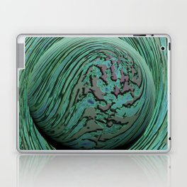 Green Singularity - Abstract Swirling Globe Laptop & iPad Skin