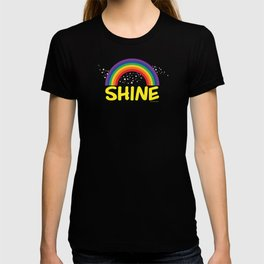 SHINE in yellow T-shirt