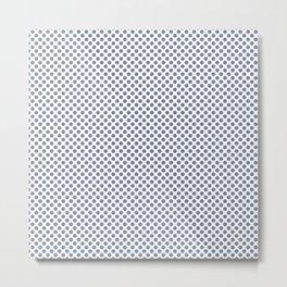 Stonewash Polka Dots Metal Print