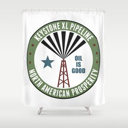 Keystone XL Pipeline Shower Curtain