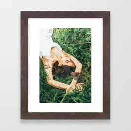 Jungle Vacay #painting #portrait Framed Art Print