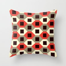 Hexagon pattern (red) Throw Pillow