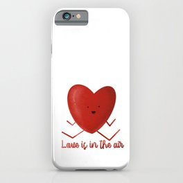 Love is in the air Heart hand drawn heart shaped picture iPhone Case