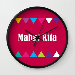 i love you in tagalog Wall Clock