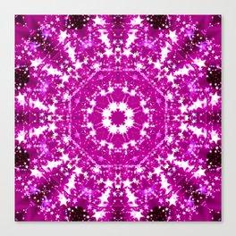 Pink Starburst Mandala Canvas Print