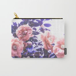 Wild Roses - Ultra Violet and Coral #decor #floral #buyart Carry-All Pouch