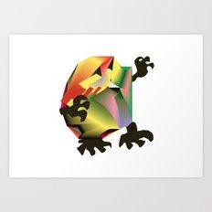 Mesh Monster Art Print