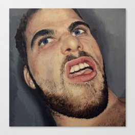 self portrait, annoyance and disgust Canvas Print