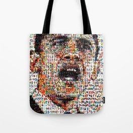 BEHIND THE FACE Obama   Superheroes & Comics Tote Bag