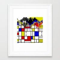 mondrian Framed Art Prints featuring MONDRIAN by DIVIDUS