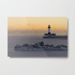 Canal Park Light House. Duluth, MN Metal Print