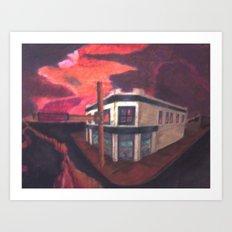 Edge of the cliffs Art Print