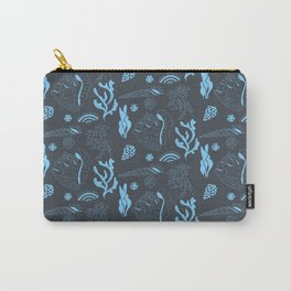 Tropical underwater life pattern in blue Carry-All Pouch