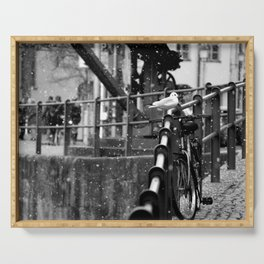 Seagull in Winter | Black&White Photography | Bamberg Serving Tray