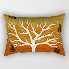 Fruits Talk White Rectangular Pillow
