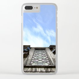 Kazakhstan blue sky Clear iPhone Case