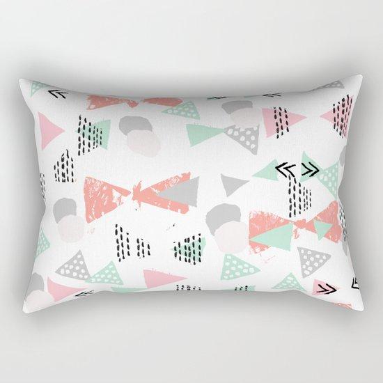 Pastel minimal pattern gender neutral nursery pattern home office trendy designs Rectangular Pillow