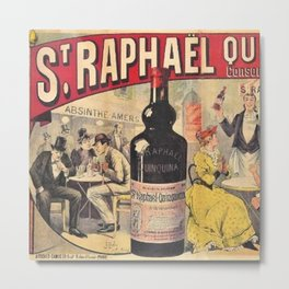 Extremely Rare Vintage St. Raphael Liquor Aperitif Quinquina Advertisement Poster Metal Print