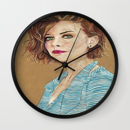 Lauren Cohan Wall Clock