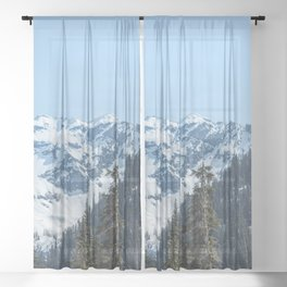 Fresh Mountain Air - PNW Edition Sheer Curtain