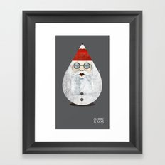 Merry X-mas Framed Art Print