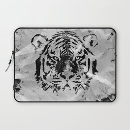 Black and white Tiger portrait  on paper canvas Laptop Sleeve
