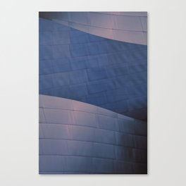 Blue and Rose architectural abstract of the home to the LA Philharmonic. Architect: Frank Gehry Canvas Print