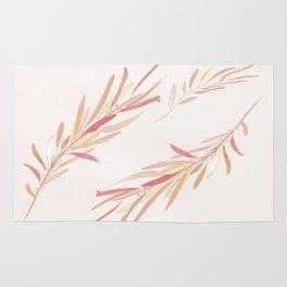 Eucalyptus Leaves Pink Rug