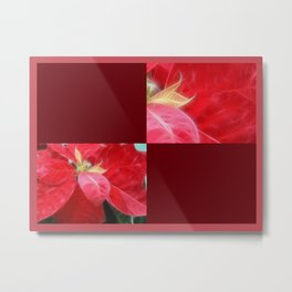 Mottled Red Poinsettia 2 Blank Q10F0 Metal Print